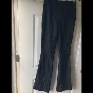 Lululemon Athletica Black Dress Pants Flared Legs